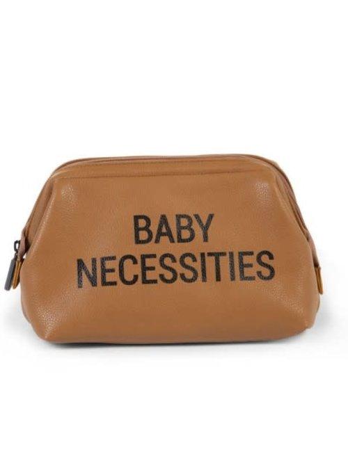 Childhome Childhome Baby Necessities Toilettas - Lederlook Bruin