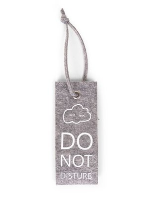 Childhome Childhome Vilten Deurhanger Do Not Disturb Grey