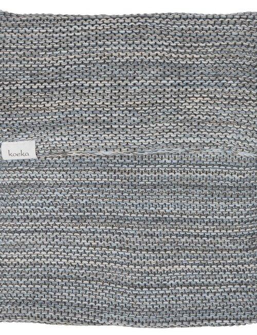 Koeka Koeka Wiegdeken Porto Grey/Soft Blue/Pebble 75 x 100 cm