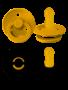 Bibs Bibs Fopspeen Latex 2 Stuks Mustard/Smoke T1 (0-6m)