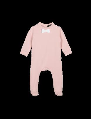 House of Jamie House of Jamie Bow Tie Babysuit Powder Pink