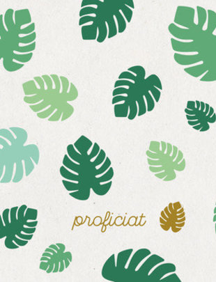 Leuke Kaartjes Leuke Kaartjes Proficiat Met Tropische Bladeren