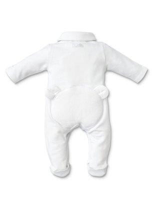 First First Pyjama Wit Jersey Met Teddybeer Wit