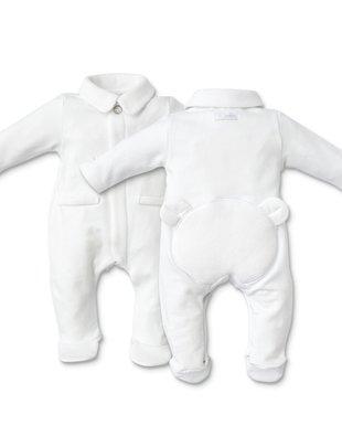 First First Pyjama Bjorn Jersey White/White Teddybear