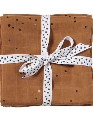 Done by Deer Done by Deer Burp Cloth 2-Pack Dreamy Dots, Mustard