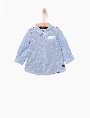 IKKS IKKS hemd blauw met jersey rug voor jongens