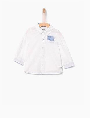 IKKS IKKS hemd wit met jersey rug voor jongens