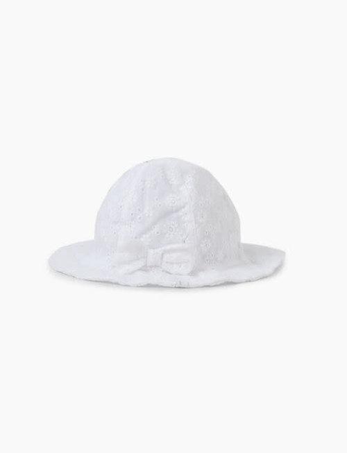 IKKS IKKS Zonnehoedje wit met wit Borduursel