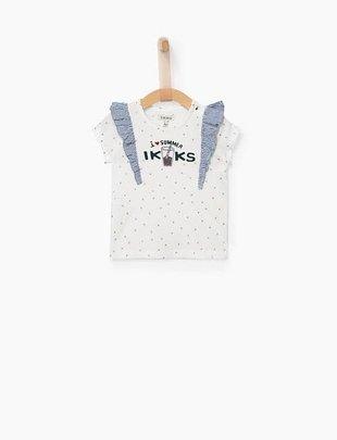 IKKS IKKS T-shirt summer met zilverkleurige sterretjes