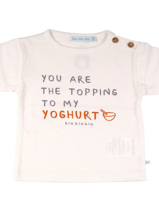 Bla Bla Bla Bla Bla Bla T-shirt You Are The Topping To My Yoghurt