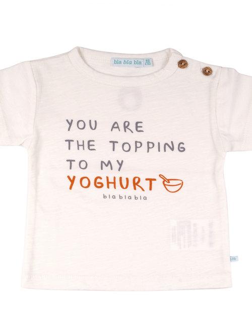 Bla Bla Bla Bla Bla Bla T-shirt You Are The Topping To My Yoghurt