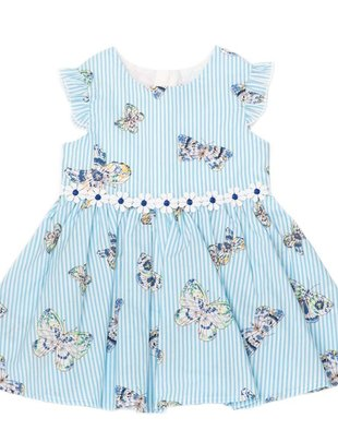 Natini Natini Jurk Girls Butterfly Blue