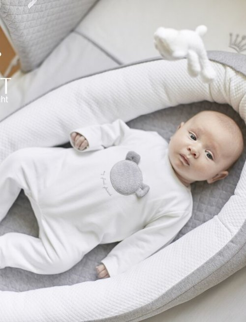 First First Babynestje Endless Grey