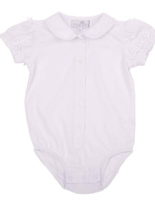 Natini Natini Bodyblouse Bow White Voor Meisjes
