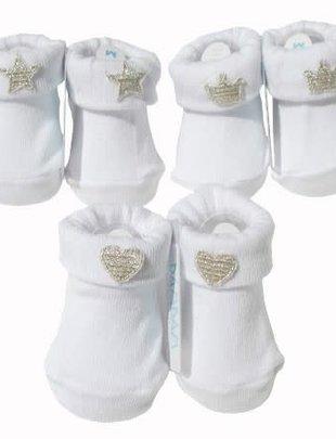 Bambam Bambam Sokjes Star, Heart, Crown White