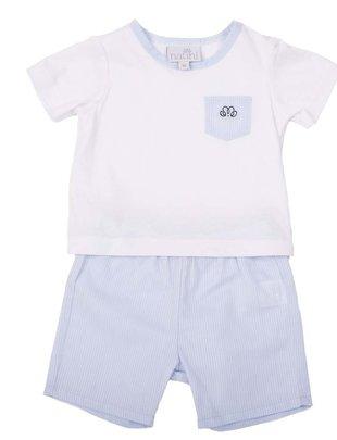 Natini Natini Pyjama Light Blue Voor Jongens