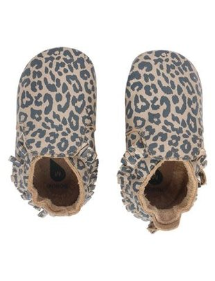 Bobux Bobux Soft Sole Leopard Print Gold Voor Meisjes