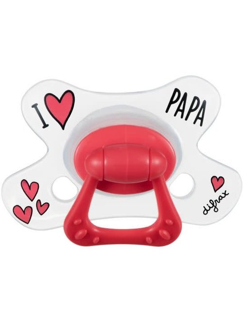 Difrax Difrax Fopspeen Natural 18+ - I Love Papa