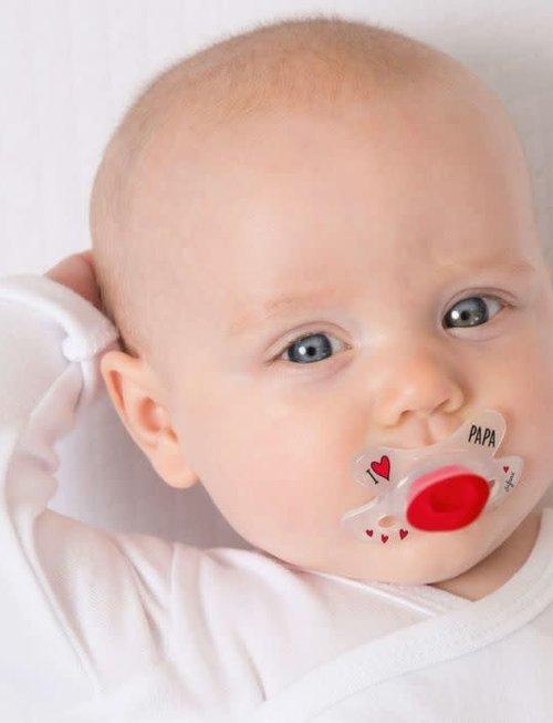 Difrax Difrax Fopspeen Natural Newborn - I Love Papa