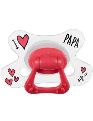 Difrax Difrax Fopspeen Natural 12+ - I Love Papa