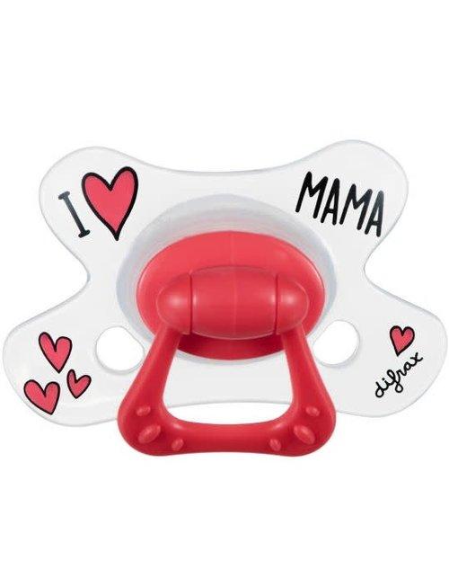 Difrax Difrax Fopspeen Natural 12+ - I Love Mama