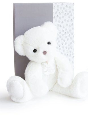 Histoire d'Ours Histoire D'ours Teddybeer Wit 28 cm