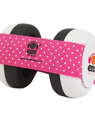 EM's for Kids Em's For Kids Gehoorbeschermers Baby Pink/White - 6m
