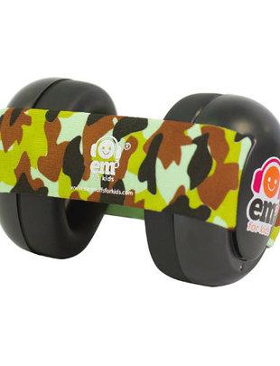EM's for Kids Em's For Kids Gehoorbeschermers Baby Zwart Army Camo
