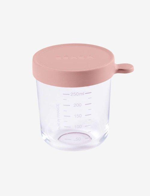 Béaba Beaba Glazen Bewaarpotjes 250 ml Pink