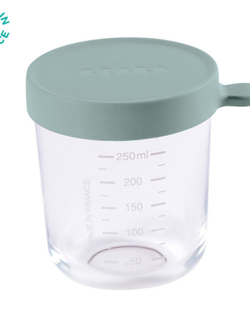 Béaba Beaba Glazen Bewaarpotje 250 ml Mint