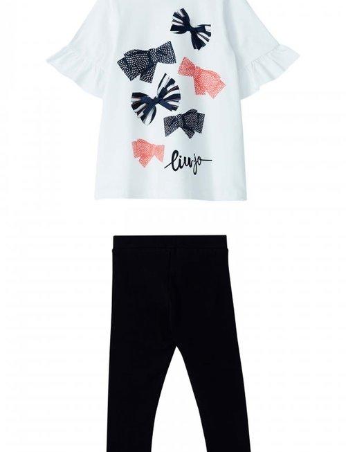 Liu Jo Liu Jo T-Shirt Met Legging Strikjes