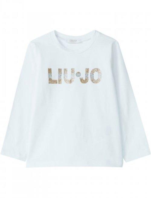 Liu Jo Liu JO T-shirt Lange Mouw Wit Met Strass