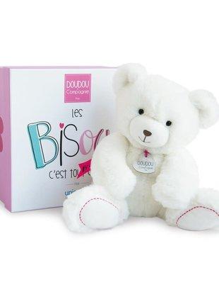 Doudou et Compagnie Doudou et Compagnie Witte Teddybeer 25 cm