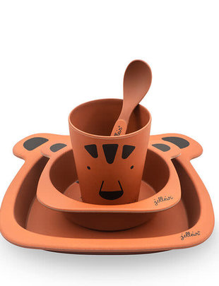 Jollein Jollein Dinnerset Animal Club Rust