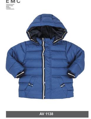 EMC EMC Vest Blauw Met Kap Voor Jongens