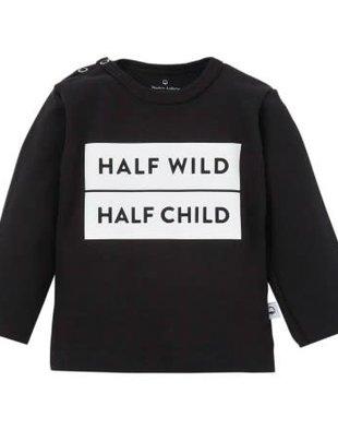 Wooden Buttons Wooden Buttons T-shirt Half Wild Half Child