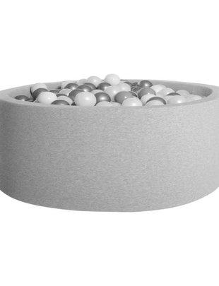 Kidkii Kidkii Ballenbad Round Light Grey (Incl. 200 Ballen)