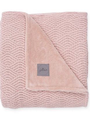 Jollein Jollein Deken River Knit 75x100 cm Pale Pink/Coral Fleece