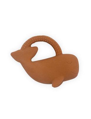 Jollein Jollein Rubberen Bijtring Whale Caramel