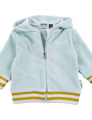Zero2Three Bla Bla Bla Vest Sweater  Met Kamp In Fluweel