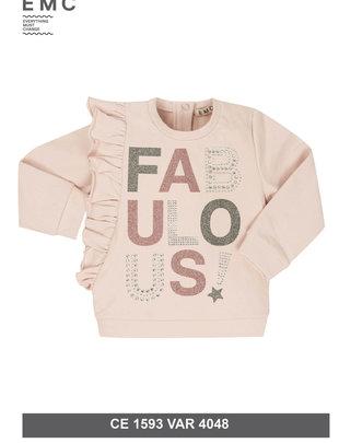 EMC EMC Sweater Fabulous Roze Met Strass