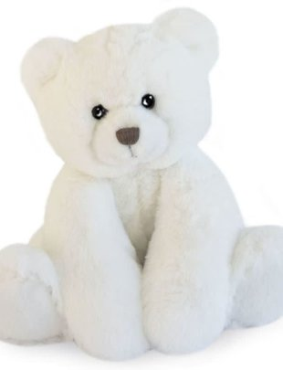 Histoire d'Ours Histoire d'Ours Teddybeer Wit  25 cm