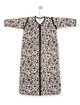 Jollein Jollein Slaapzak met Afritsbare Mouw Leopard Natural 110 cm