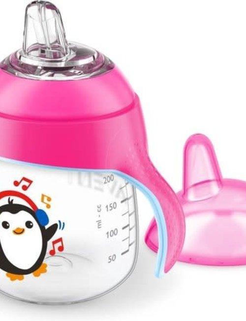 Avent Lekvrije Beker Pinguins Roze 200 ml