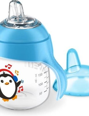 Avent Avent Lekvrije Beker Pinguins Blauw 200ml