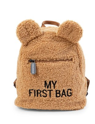 Childhome Childhome Kinderrugzak My First Bag - Teddy Beige