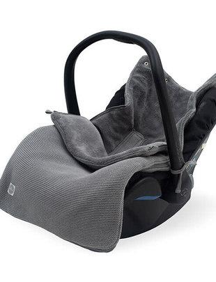 Jollein Jollein Voetenzak voor Autostoel Basic Knit - Stone Grey