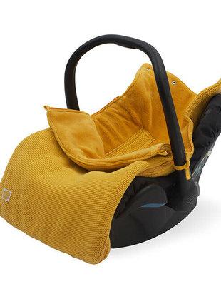 Jollein Jollein Voetenzak voor Autostoel Basic Knit- Oker