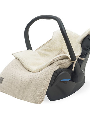 Jollein Jollein Voetenzak voor Autostoel Bliss Knit - Nougat