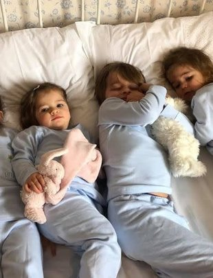 Little Ducks Little Ducks Pyjama Lewis Blauw
